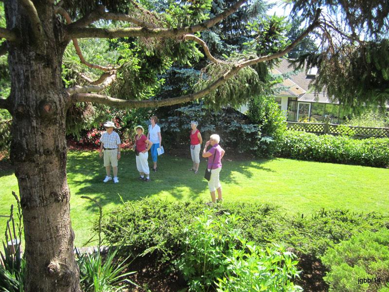 Guests at Garden Tour -lower garden