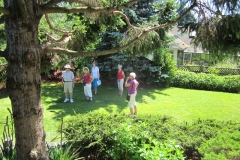 Guests at Garden Tour -lower garden