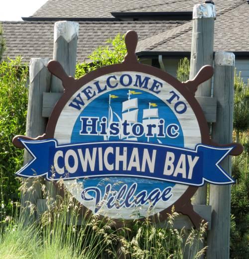 Cowichan Bay Village Sign