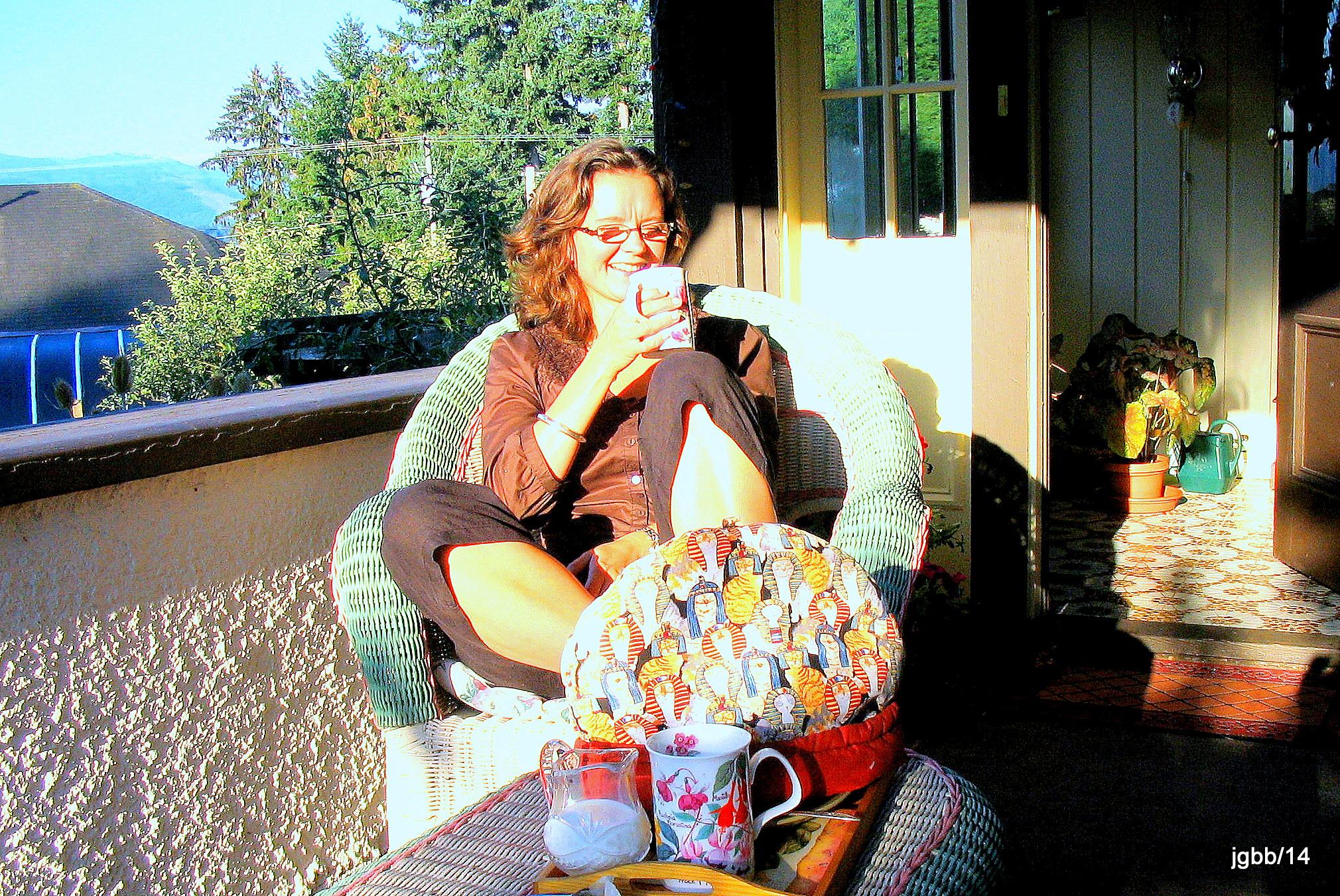 Morning tea on veranda