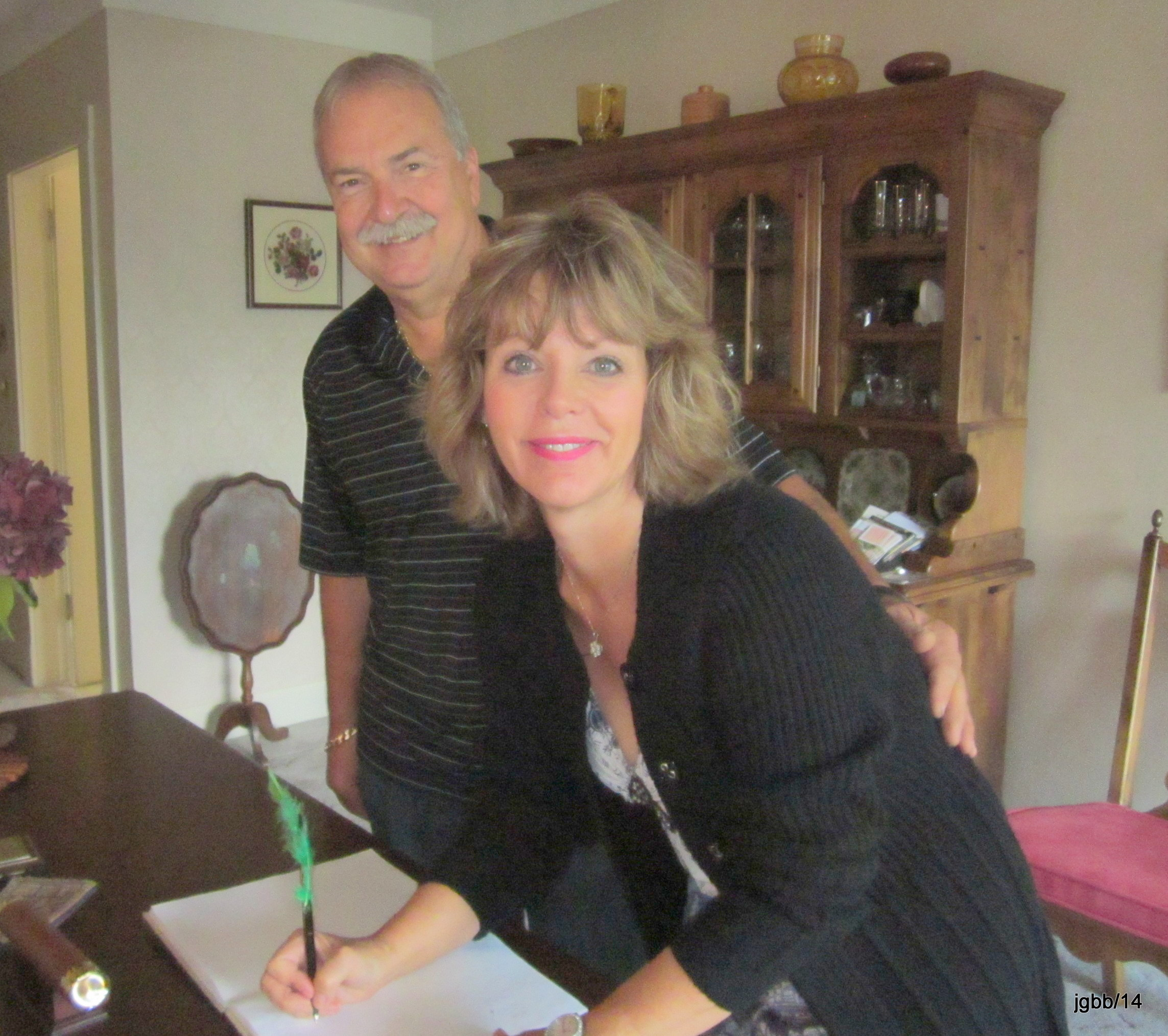B&B Guests- writing in book